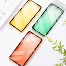Gradient Color Transparent Glass Cover Case For iPhone 8 7 6 6S Plus XR XS MAX