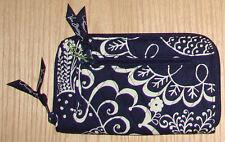 VERA BRADLEY Zip-around quilted Wallet twirly birds navy NWT