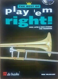 Posaunen Noten The Best Of  play 'em right  Trombone + 2x CD von Erik Veldkamp