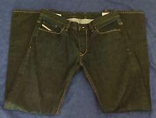 Dark Wash DIESEL VIKER Regular Straight Jeans Men's Sz 33 x 32 Button Fly