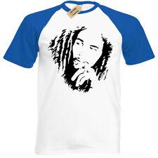 Bob Marley Mens T-Shirt Baseball Reggae Jamaica Wailers Jamaican