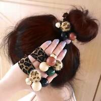 Fashion Korean Women Girls Leopard Elastic Hair Bands Hair Ties Hair Accessories