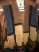 Preowned Northwest Territory Womens Pls 2x Multicolor Suede Leather Vest Vintage