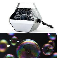 Large Bubble Blower Machine Portable Blowing Maker DJ Disco Party Club Xmas Fun