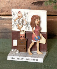 HILLBILLY BABYSITTER Figurine Statue Figure Gag Gift Rednecks Moms Novelty Joke