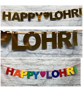 Happy Lohri Folk Festival Punjabi Banner bunting decorations