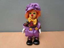 WORLD OF CLOWNS PORCELAIN DOLL D.S.N COLLECTION WITH BOX #2