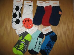 NWT Gymboree Size Small 5-6 Lot of 8 Boys Multicolor Ankle Socks