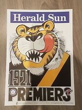 1921 RICHMOND TIGERS PREMIERSHIP WEG POSTER LIMITED EDITION OUT OF 1000