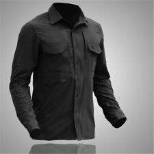 Army Mens Tactical Shirt Military Combat Long Sleeve Shirt Hiking Outdoor Casual