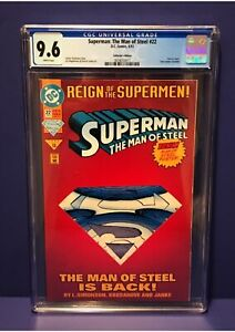 Superman The Man Of Steel #22 CGC Graded 9.6 DC 1993 Die-Cut Cover Comic Book
