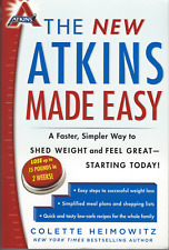 THE NEW ATKINS MADE EASY by Colette Heimowitz - Low Carb Paperback VERY GOOD!