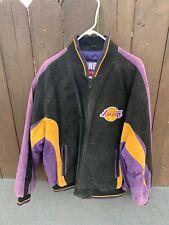 Vintage G-III Carl Banks NBA Los Angeles Lakers Leather Jacket