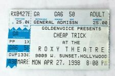 Cheap Trick 1998 Concert Ticket Stub Roxy Theatre West Hollywood