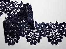 """The Place For Lace - Navy Blue Flower Guipure Lace Trim 3.5""""/9cm PER METRE"""