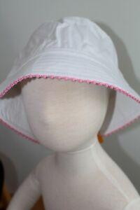 Gymboree Swim Shop Girls Hat Size 4T-5T NWT NEW White Pink