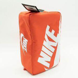 NIKE SHOE BOX ZIP BAG ORANGE WHITE SHOEBOX BAG BA6149-810 NEW