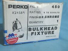 Perko 0217DP0CHR Chrome Bulkhead light Fixture NEW