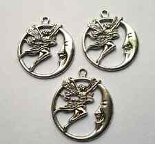 10pcs  Tibetan silver angel charm pendant  30.5x26.5 mm