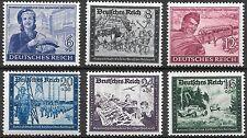 Germany Third Reich Mi# 888-893 MNH Postal Employees & Hitler's Cuture Fund**