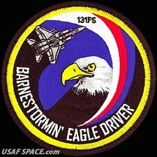USAF 131ST FIGHTER SQ - BARNESTORMIN' EAGLE DRIVER- Barnes ANGB - ORIGINAL PATCH