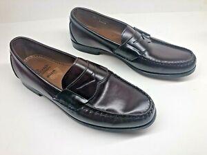 Allen Edmonds WALDEN Men's Penny Loafers 10 E Oxblood Burgundy Slip On - USA