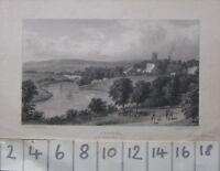C1830 Antico Stampa Chester Da Barrelwell Collina