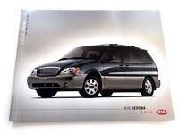 2002 Kia Sedona Van 16-page Original Car Sales Brochure Catalog