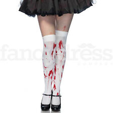 Pair of Blood Stained Stockings Halloween Nurse Zombie Fancy Dress Bloody NEW