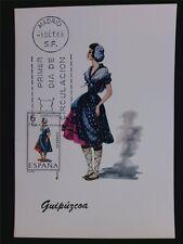 SPAIN MK 1968 COSTUMES GUIPUZCOA TRACHTEN MAXIMUMKARTE MAXIMUM CARD MC CM c6061