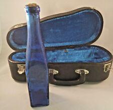 Cobalt Blue Glass Bottle - PEAR EMBOSSED - With Custom Case/Music Box