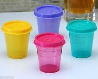 Tupperware Plastic Midget Multi-color 60 ML Small Containers- Set of 4 NEW!