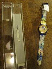 "VINTAGE 1992 NOS SWATCH WATCH GN 120 ""BACK STAGE"" - MIB"