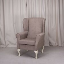 Wingback Orthopaedic Chair in a Mink Topaz Fabric - NEW