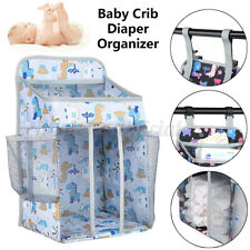 Baby Hanging Storage Bag Crib Diaper Organizer Organizer Nursery Diaper Wipe