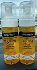 New listing 2 Ct Neutrogena 5 Oz Soothing Clear Turmeric Mousse Cleanser For Acne Prone Skin