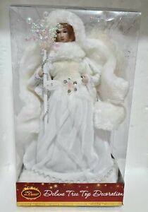 Deluxe Tree Top Decoration 🧚 WHITE SNOW ANGEL 🧚 30cm Christmas Ornament