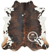 Cowhide Rug - Dark Brindle Tricolor High Quality Hair on Hide Size:Large (L)A120
