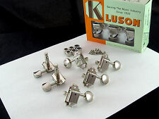 Kluson SD9005MNDR Tuners 3X3 Oval Metal Button Double Line Housing 15:1 Nickel