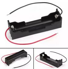 5x Single Cell 18650 3.7V DIY Battery Clip Holder Mount Case Box With Wire Leads