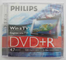 NEW & SEALED - SINGLE PHILIPS DVD+R 16X RECORDABLE 4.7GB DATA DVD IN JEWEL CASE