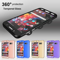 For Samsung Galaxy S7 / S7 Edge 360° Shockproof Case Cover + Tempered Glass