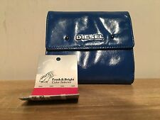 Womens Wallet Purse Blue Leather Genuine Diesel BNWT RRP £75