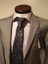 New W/ Tag 495$ Ralph Lauren suit 34S Sand gray Flat Front Pants