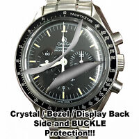 For Omega MoonWatch HD Crystal Protector anti-scratch Bezel, side, buckle set