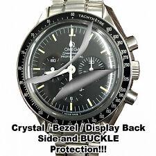 For Omega MoonWatch HD Crystal, Bezel, Side, Case Back, **SM 300 clasp set x2@