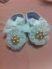 Scarpe neonata per battesimo/Scarpine bianche neonata/Scarpette neonata N18