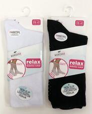 2 Pairs Unisex Socks Non Elastic Diabetic Bamboo Super Soft Non Slip Socks
