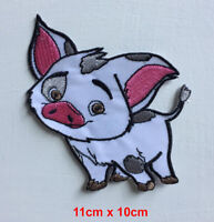 Cute pig moana cartoon badge clothes Iron on Sew on Embroidered Patch