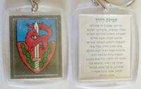 Israel IDF Army Givati Brigage Keychain Key Ring W Travelers Prayer